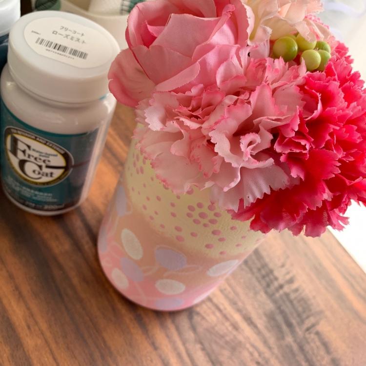 母の日におすすめ!ハンドメイドのリメイク花瓶